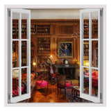Fake 3D Window Library in Baltimore | Canvas, Posters, Prints & Stickers - StyleIsUS.com
