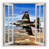Fake 3D Window Jet Fighter in the sky | Canvas, Posters, Prints & Stickers - StyleIsUS.com