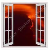 Fake 3D Window Lenticular ring of clouds | Canvas, Posters, Prints & Stickers - StyleIsUS.com