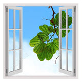 Fake 3D Window A Brench with leaves | Canvas, Posters, Prints & Stickers - StyleIsUS.com