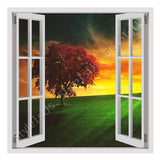 Fake 3D Window Horizon landscape | Canvas, Posters, Prints & Stickers - StyleIsUS.com