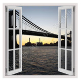 Fake 3D Window Brooklyn Bridge | Canvas, Posters, Prints & Stickers - StyleIsUS.com