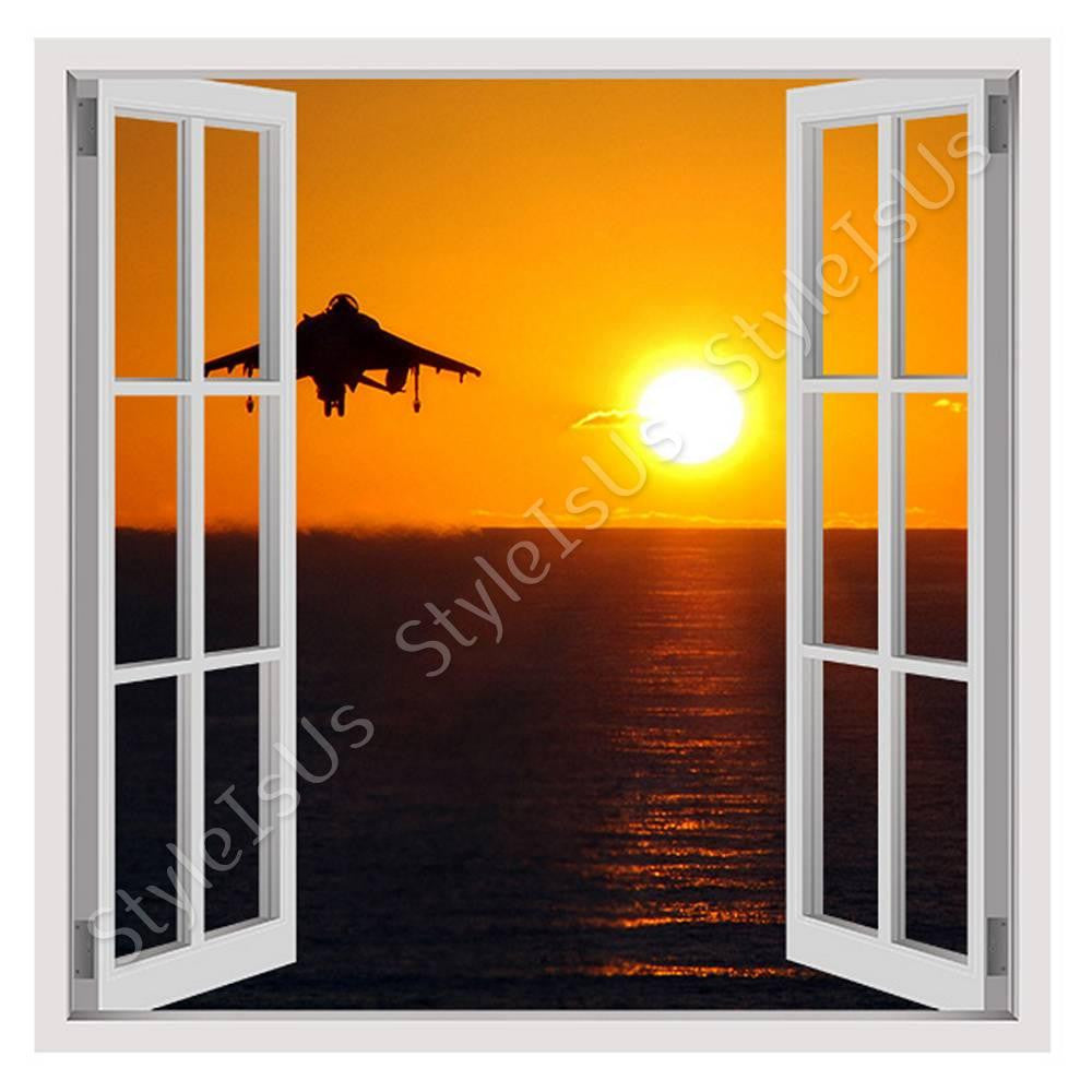 Fake 3D Window Aircraft taking off | Canvas, Posters, Prints & Stickers - StyleIsUS.com
