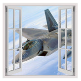 Fake 3D Window F22 Jet from the military | Canvas, Posters, Prints & Stickers - StyleIsUS.com