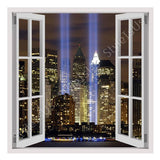 Fake 3D Window WTC Twins NYC | Canvas, Posters, Prints & Stickers - StyleIsUS.com
