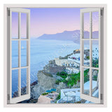 Fake 3D Window Santorini Greece Vacation | Canvas, Posters, Prints & Stickers - StyleIsUS.com