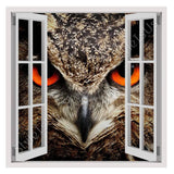 Fake 3D Window Eagle Owl Eyes | Canvas, Posters, Prints & Stickers - StyleIsUS.com