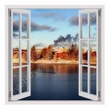 Fake 3D Window Icy Winter Island | Canvas, Posters, Prints & Stickers - StyleIsUS.com