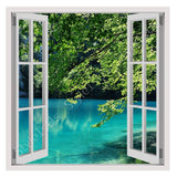 Fake 3D Window Lake in a park in Croatia | Canvas, Posters, Prints & Stickers - StyleIsUS.com