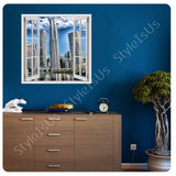 Fake 3D Window Singapore skyline buildings | Canvas, Posters, Prints & Stickers - StyleIsUS.com
