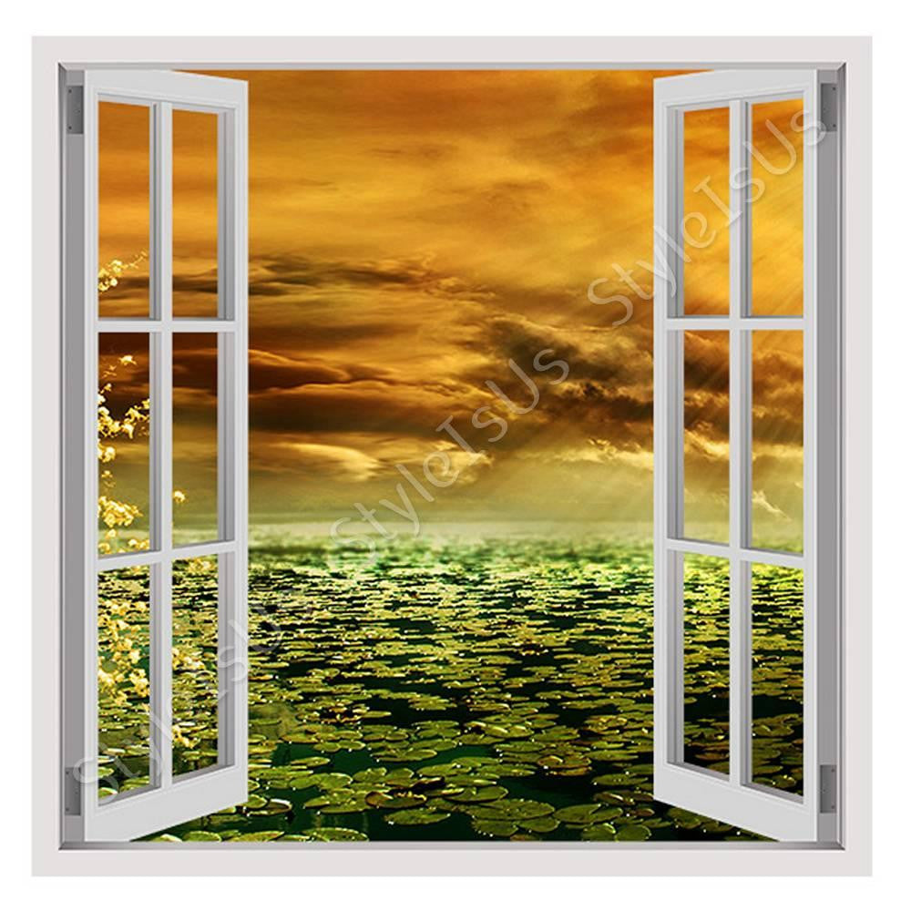 Fake 3D Window Romantic Sunbeam | Canvas, Posters, Prints & Stickers - StyleIsUS.com