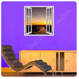 Fake 3D Window Sunset Scenery Landscape | Canvas, Posters, Prints & Stickers - StyleIsUS.com