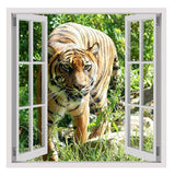 Fake 3D Window Predator Tiger in the wild | Canvas, Posters, Prints & Stickers - StyleIsUS.com