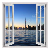 Fake 3D Window Skyline Canada towers | Canvas, Posters, Prints & Stickers - StyleIsUS.com
