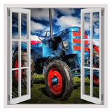 Fake 3D Window Tractor Agriculture | Canvas, Posters, Prints & Stickers - StyleIsUS.com