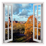 Fake 3D Window Landscape in Sweden | Canvas, Posters, Prints & Stickers - StyleIsUS.com