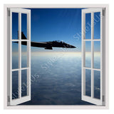 Fake 3D Window US Air force Jet F15 | Canvas, Posters, Prints & Stickers - StyleIsUS.com
