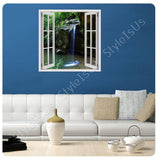 Fake 3D Window Waterfall Stream | Canvas, Posters, Prints & Stickers - StyleIsUS.com