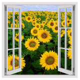 Fake 3D Window sun Flowers | Canvas, Posters, Prints & Stickers - StyleIsUS.com