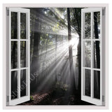 Fake 3D Window Deep Forest | Canvas, Posters, Prints & Stickers - StyleIsUS.com