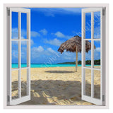 Fake 3D Window Sunny day on the beach | Canvas, Posters, Prints & Stickers - StyleIsUS.com