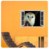 Fake 3D Window Night Owl | Canvas, Posters, Prints & Stickers - StyleIsUS.com