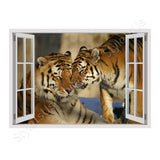 Fake 3D Window Tigers in the wild | Canvas, Posters, Prints & Stickers - StyleIsUS.com