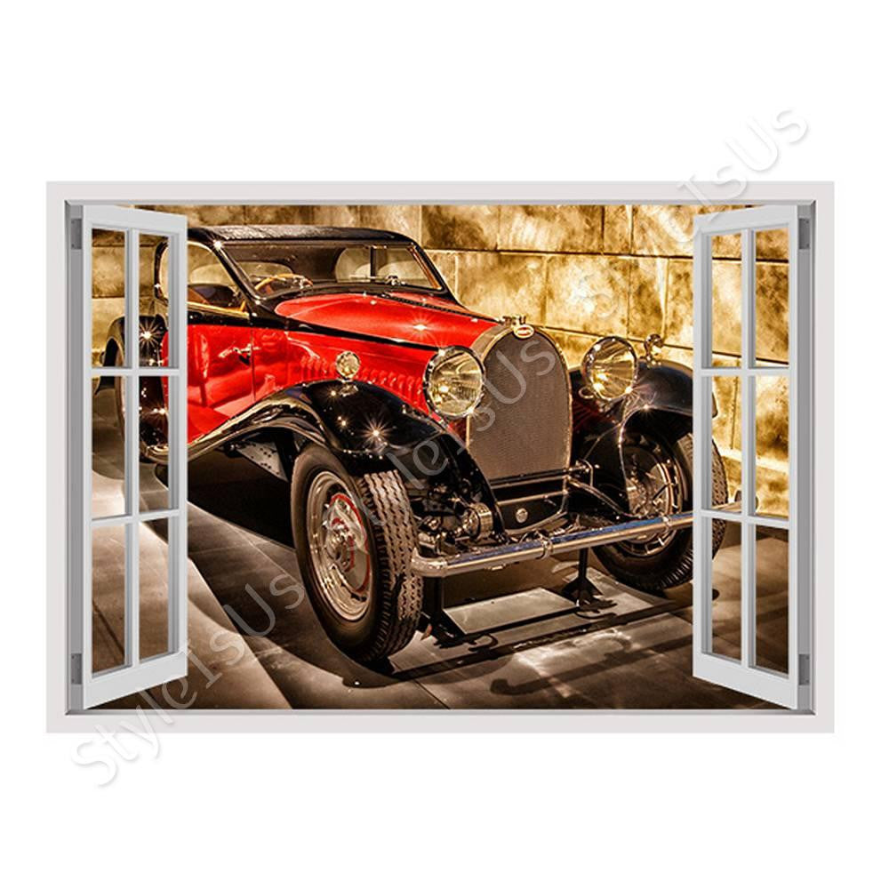 Fake 3D Window Vintage Vehicle | Canvas, Posters, Prints & Stickers - StyleIsUS.com