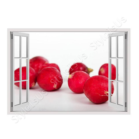 Fake 3D Window Healthy Food | Canvas, Posters, Prints & Stickers - StyleIsUS.com