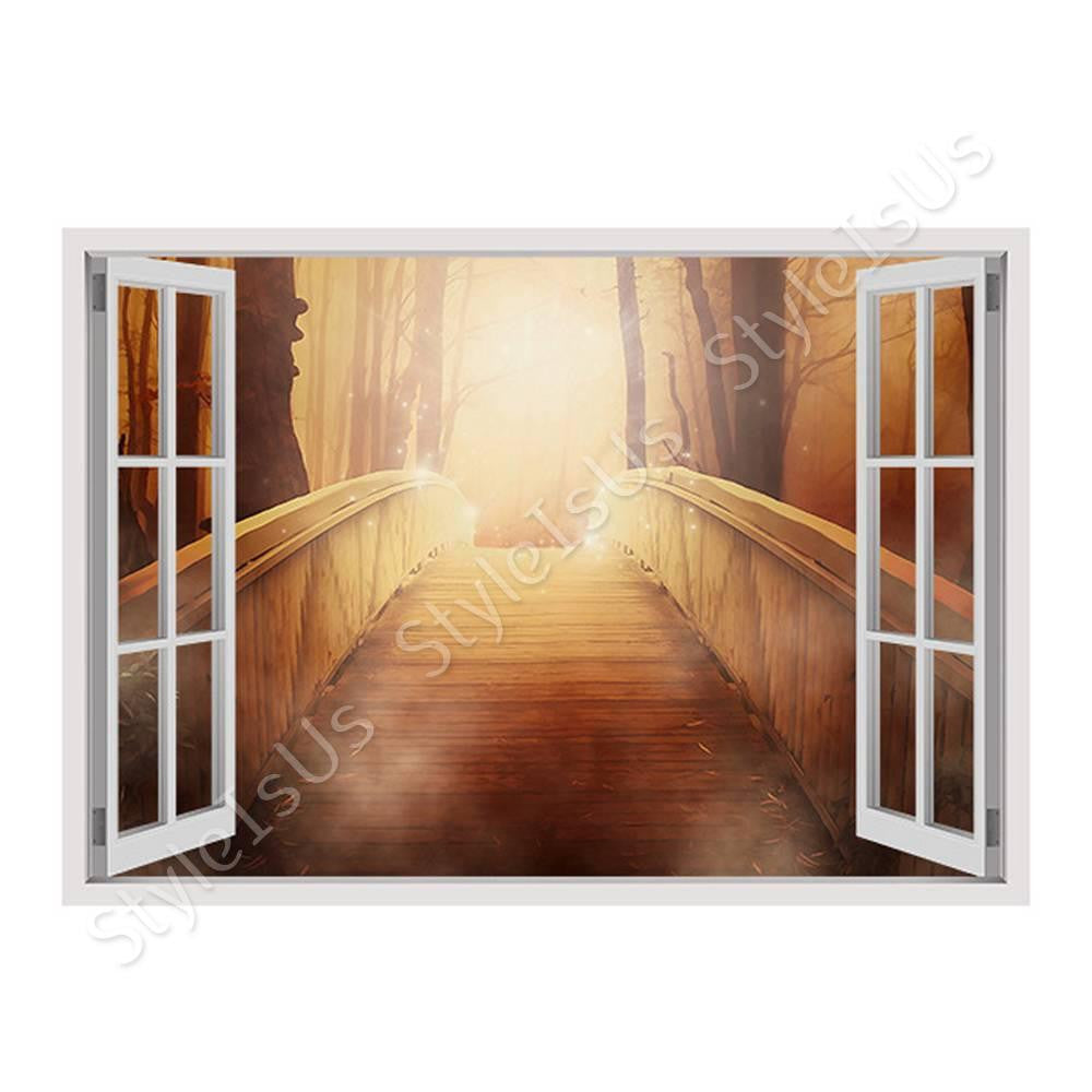 Fake 3D Window The Bridge to heaven | Canvas, Posters, Prints & Stickers - StyleIsUS.com