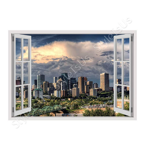 Fake 3D Window Canadas Skycrapers | Canvas, Posters, Prints & Stickers - StyleIsUS.com