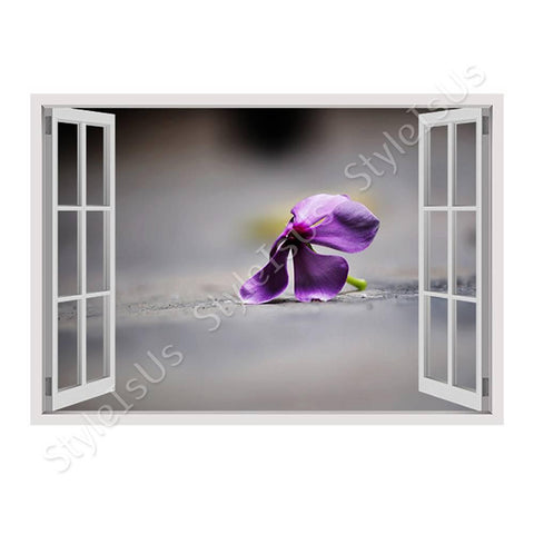 Fake 3D Window Wildflower | Canvas, Posters, Prints & Stickers - StyleIsUS.com
