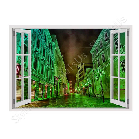 Fake 3D Window HDR Urban Architecture | Canvas, Posters, Prints & Stickers - StyleIsUS.com