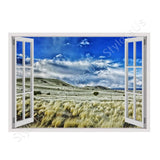 Fake 3D Window New Mexico Scenic Landscape | Canvas, Posters, Prints & Stickers - StyleIsUS.com