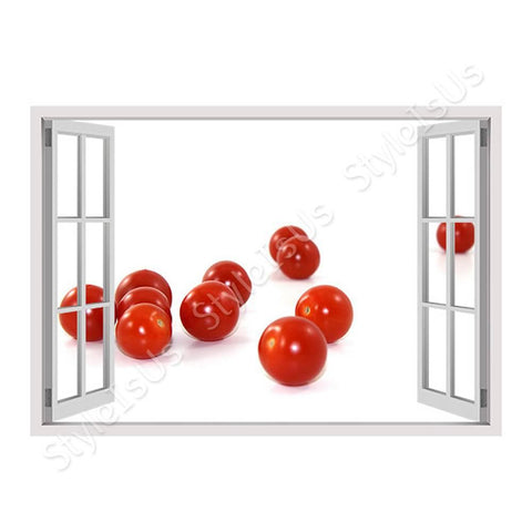 Fake 3D Window Tomatos vitamins | Canvas, Posters, Prints & Stickers - StyleIsUS.com