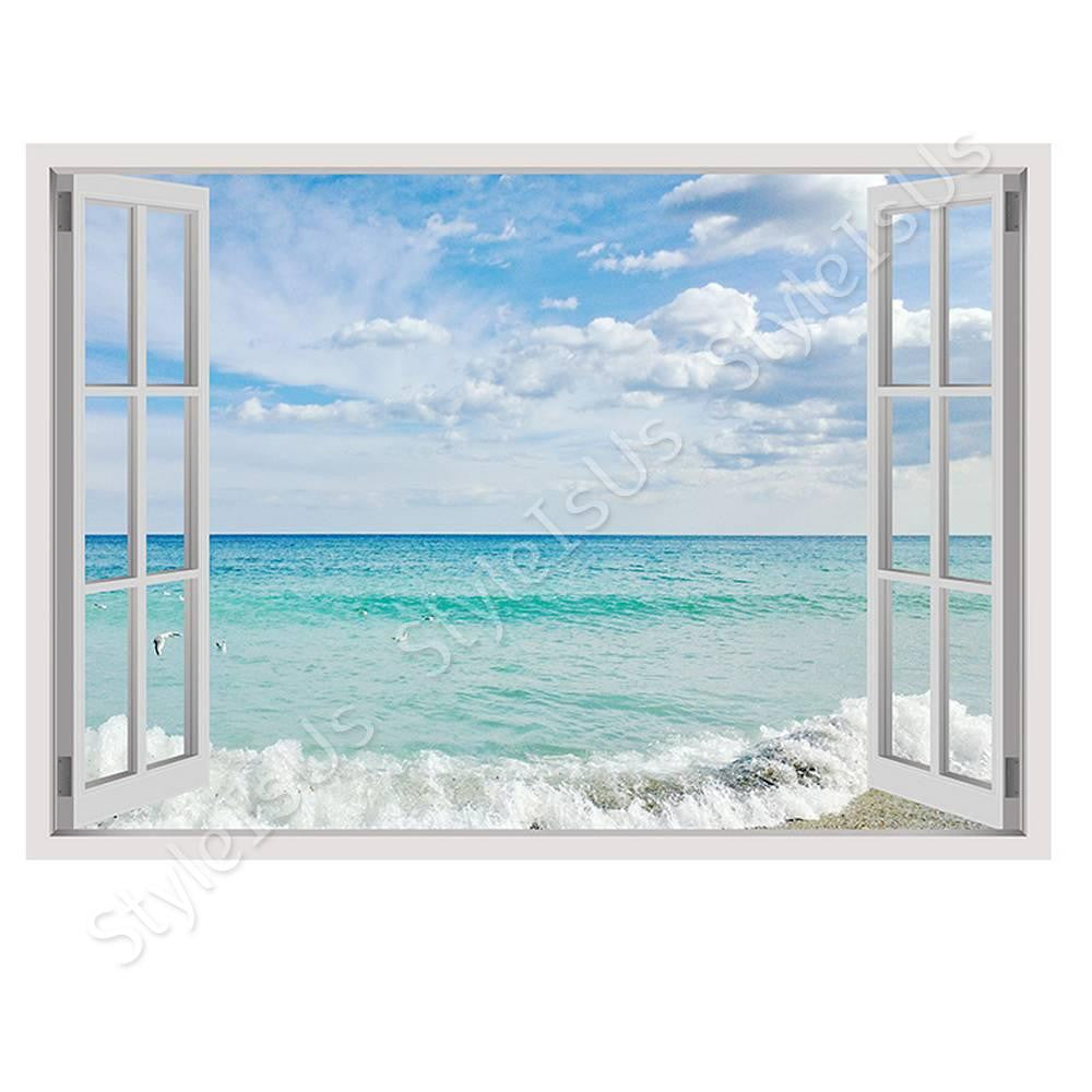 Fake 3D Window Sea and Sky | Canvas, Posters, Prints & Stickers - StyleIsUS.com