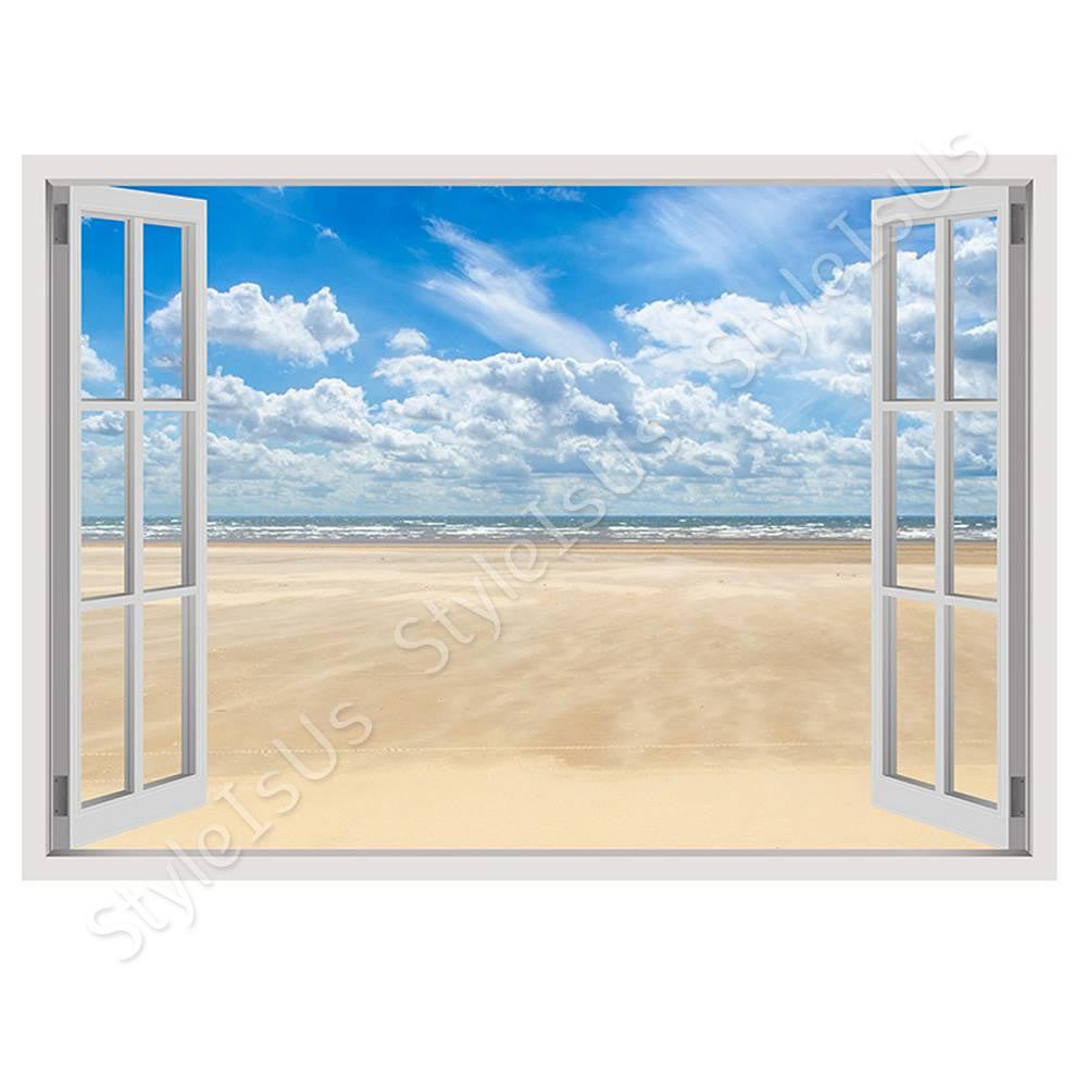 Fake 3D Window Sand and Sky | Canvas, Posters, Prints & Stickers - StyleIsUS.com