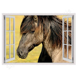 Fake 3D Window Horse | Canvas, Posters, Prints & Stickers - StyleIsUS.com