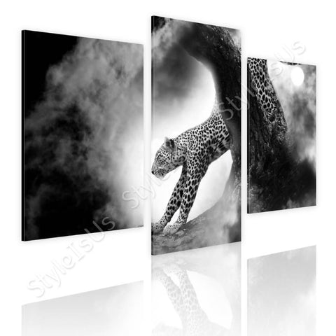 Split 3 panels Leopard in the wild 3 Panels | Canvas, Posters, Prints & Stickers - StyleIsUS.com