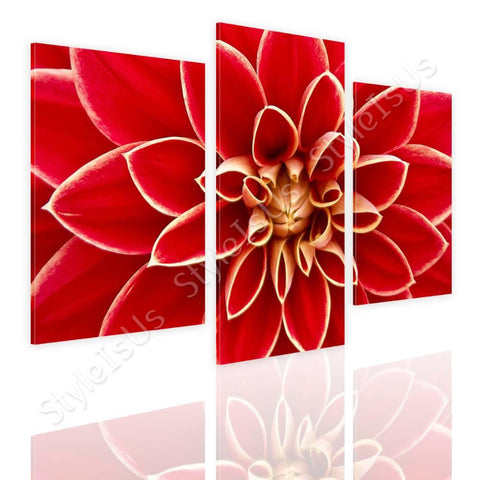 Split 3 panels Dahlia in the Autumn 3 Panels | Canvas, Posters, Prints & Stickers - StyleIsUS.com