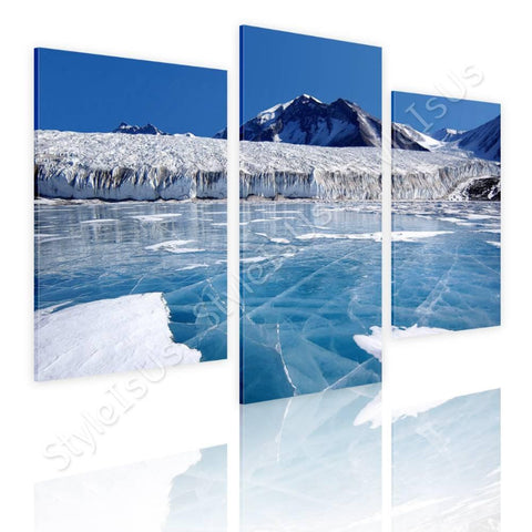 Split 3 panels Antarctica 3 Panels | Canvas, Posters, Prints & Stickers - StyleIsUS.com