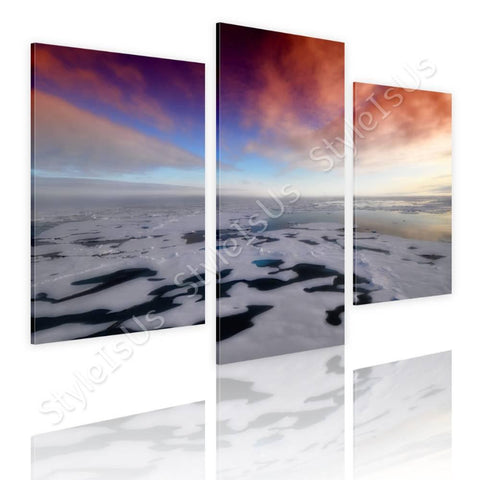 Split 3 panels Arctic Sea 3 Panels | Canvas, Posters, Prints & Stickers - StyleIsUS.com