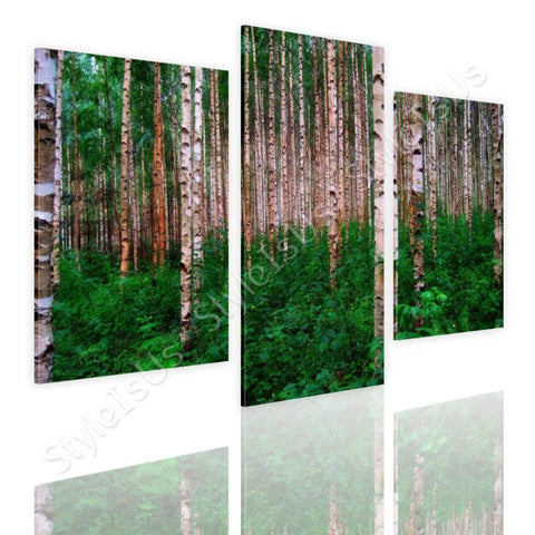 Split 3 panels Trees in the forest 3 Panels | Canvas, Posters, Prints & Stickers - StyleIsUS.com
