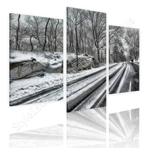 Split 3 panels Winter in NYC 3 Panels | Canvas, Posters, Prints & Stickers - StyleIsUS.com