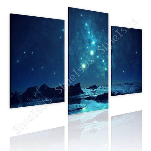 Split 3 panels Romantic Blue Sky 3 Panels | Canvas, Posters, Prints & Stickers - StyleIsUS.com
