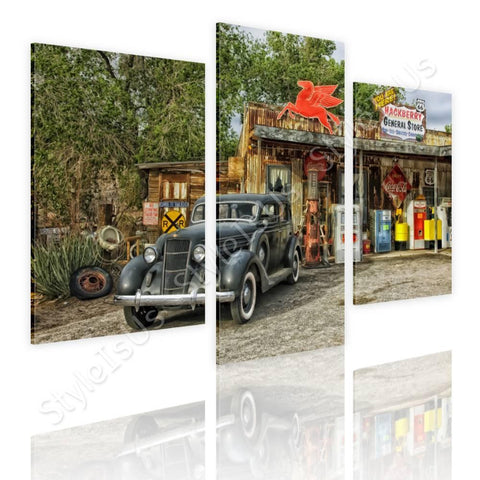 Split 3 panels Arizona Route 66 3 Panels | Canvas, Posters, Prints & Stickers - StyleIsUS.com