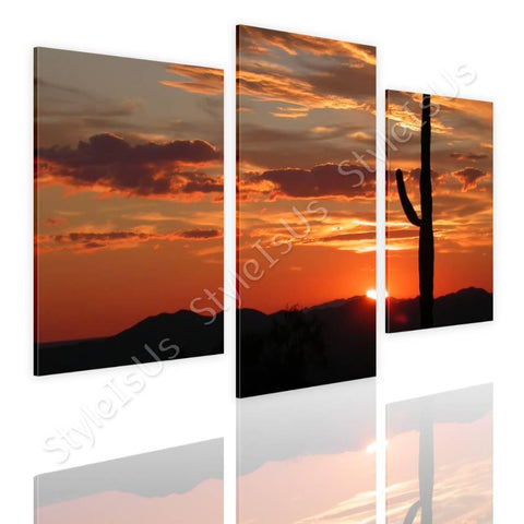 Split 3 panels Arizonas Landscape 3 Panels | Canvas, Posters, Prints & Stickers - StyleIsUS.com