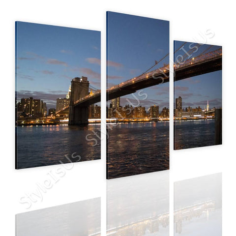 Split 3 panels Brooklyns Bridge 3 Panels | Canvas, Posters, Prints & Stickers - StyleIsUS.com