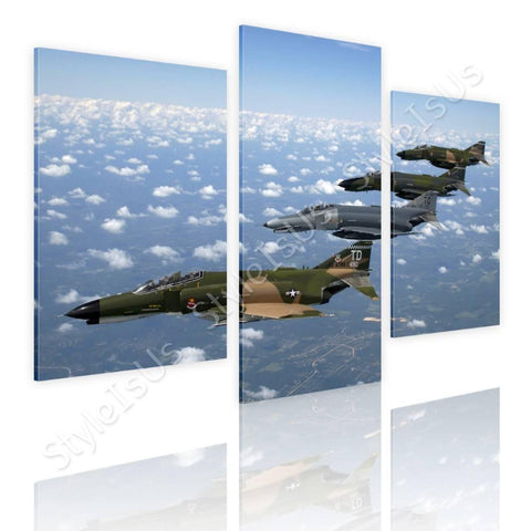 Split 3 panels Air Force Fighter Jet 3 Panels | Canvas, Posters, Prints & Stickers - StyleIsUS.com