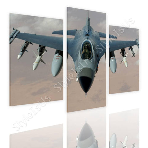 Split 3 panels Air Force Fighter Pilot 3 Panels | Canvas, Posters, Prints & Stickers - StyleIsUS.com
